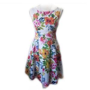 Eliza J Floral Printed Fit &  Dress - 6